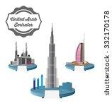 skyscraper burj khalifan  ... | Shutterstock .eps vector #332170178