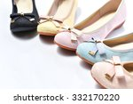 Pair Of Beige Female Shoes Ove...
