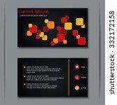 modern business visiting card ... | Shutterstock .eps vector #332172158