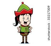 elf smiling | Shutterstock .eps vector #33217309