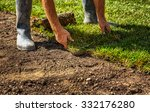 unrolling grass turf rolls for... | Shutterstock . vector #332176280