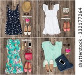 collage of women's clothes | Shutterstock . vector #332177264