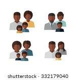 vector afro american family... | Shutterstock .eps vector #332179040