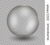 transparent glass sphere  with ... | Shutterstock .eps vector #332179949