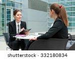 young business woman job... | Shutterstock . vector #332180834