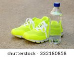 pair of sport shoes outdoors | Shutterstock . vector #332180858