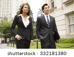two well dressed professionals... | Shutterstock . vector #332181380