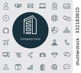 company icons vector set | Shutterstock .eps vector #332183810