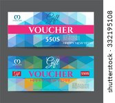 gift voucher   place for text ... | Shutterstock .eps vector #332195108