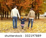family with a small daughter... | Shutterstock . vector #332197889