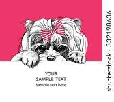 portrait of dog yorkshire... | Shutterstock .eps vector #332198636