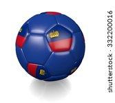 3d football soccer ball with... | Shutterstock . vector #332200016
