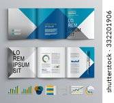 business brochure template... | Shutterstock .eps vector #332201906