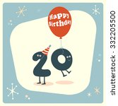 vintage style funny 20th... | Shutterstock .eps vector #332205500
