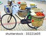 china xiamen  bicycle fruit shop