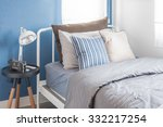 single white bed with white... | Shutterstock . vector #332217254