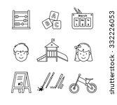 kindergarten education icons... | Shutterstock .eps vector #332226053
