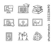 online seminar icons thin line... | Shutterstock .eps vector #332228690