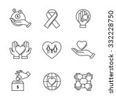 support and care icons thin... | Shutterstock .eps vector #332228750