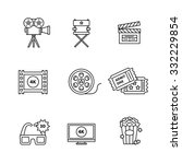 movie  film and video icons... | Shutterstock .eps vector #332229854