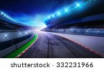 racecourse bended road with... | Shutterstock . vector #332231966