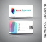 modern simple business card...   Shutterstock .eps vector #332232170