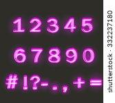 neon numbers | Shutterstock .eps vector #332237180