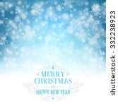 christmas greeting card  ... | Shutterstock .eps vector #332238923