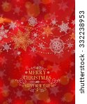 christmas vertical poster  ... | Shutterstock .eps vector #332238953