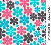 floral seamless pattern...   Shutterstock . vector #332239214