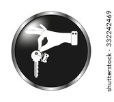hand hold key with car icon  ... | Shutterstock .eps vector #332242469