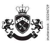 coat of arms   shield with... | Shutterstock .eps vector #332246729