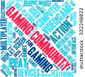 gaming community word cloud on...   Shutterstock .eps vector #332248823