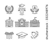 mortar board  education  school ... | Shutterstock .eps vector #332248976