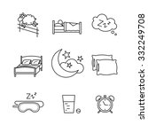 sleeping  bedtime rest and bed... | Shutterstock .eps vector #332249708