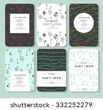 set of perfect vector card... | Shutterstock .eps vector #332252279