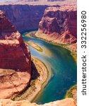 colorado river cuts through... | Shutterstock . vector #332256980
