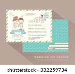 cute postcard wedding card... | Shutterstock .eps vector #332259734