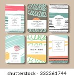 set of perfect vector card... | Shutterstock .eps vector #332261744