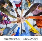 team corporate teamwork... | Shutterstock . vector #332269004