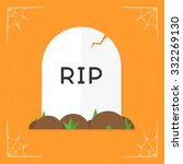 grave   rip icon. vector...   Shutterstock .eps vector #332269130