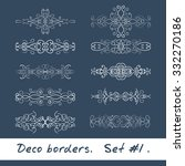 ten decorative borders in white ... | Shutterstock .eps vector #332270186