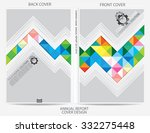 annual report cover design | Shutterstock .eps vector #332275448