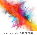 launched colorful powder on