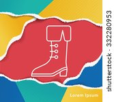 pirate boot line icon