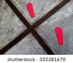 Pink Flip Flops Marks On...