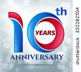 10 years anniversary  with... | Shutterstock .eps vector #332282504