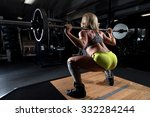 a strong fit woman exercising...   Shutterstock . vector #332284244