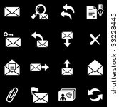 e mail white web icons | Shutterstock .eps vector #33228445