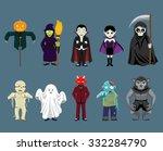halloween characters cartoon... | Shutterstock .eps vector #332284790